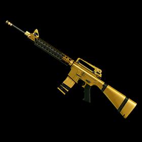Золотая M16A3 Custom | 1 День