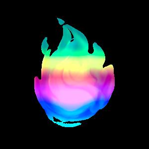 Радужное пламя на 7 дней